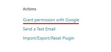 grant permission with google
